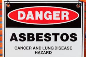asbestos warning image