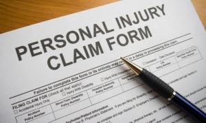 personal injury claim form image